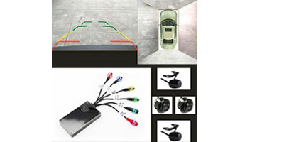360 degree 4 spilit bird view control box   with  dynamic trajectory  XY-9210